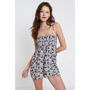 Out From Under Izzy Floral Smocked Playsuit Romper